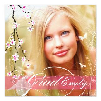 PixDezinesの2012年の卒業の写真+diy花 カード