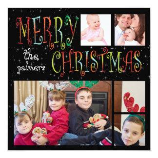 PixDezinesの5写真のテンプレートの休日カード カード