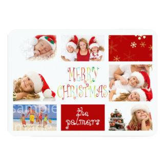 PixDezinesの7写真のテンプレートの休日カード カード
