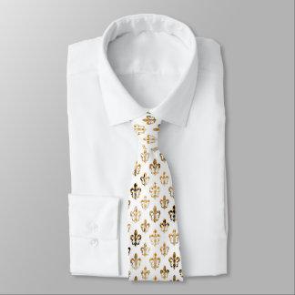 PixDezinesの(紋章の)フラ・ダ・リ/DIYの背景色 オリジナルネクタイ