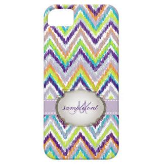 PixDezinesのdiy背景の色またはイカットのシェブロン iPhone SE/5/5s ケース