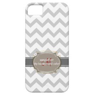 PixDezinesのdiy背景の色または白のシェブロン iPhone SE/5/5s ケース