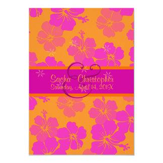 PixDezinesのdiy背景、情熱のピンクのハイビスカス カード