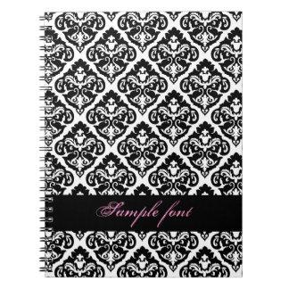 PixDezinesのdiy色、オリビアのダマスク織 ノートブック