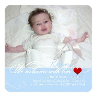PixDezinesのdiy色、写真の誕生の発表 カード
