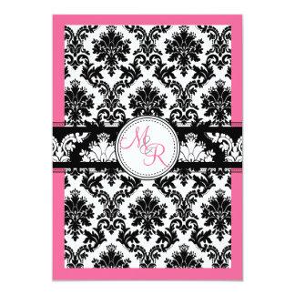 PixDezinesのdiy色、pink/laパロマのダマスク織 カード