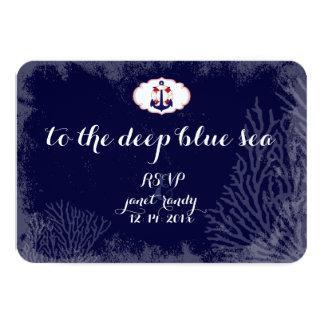 PixDezinesのrsvp航海のなかいかりかdiy色 カード