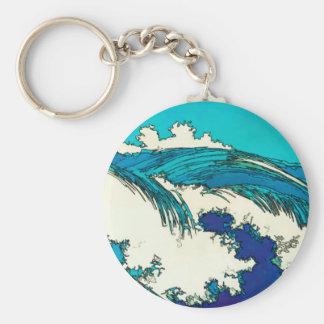 PixDezinesはueharaの海洋波、上原をkonen キーホルダー
