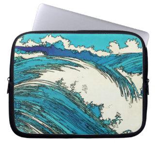 PixDezinesはueharaの海洋波、上原をkonen ラップトップスリーブ