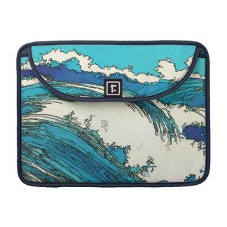 PixDezinesはueharaの海洋波、上原をkonen MacBook Proスリーブ