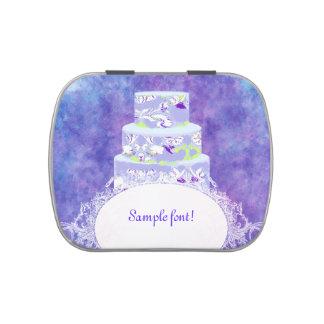 PixDezinesアリスのケーキか結婚式の引き出物のミント アメ缶