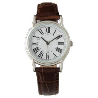 PixDezinesローマのNumeros+軍の時間 腕時計