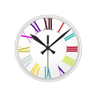 PixDezinesローマNumeros/DIYの背景色 ラウンド壁時計