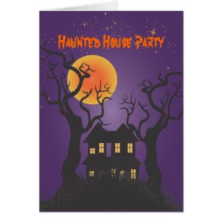 PixDezines幽霊のよく出るなMansonまたは紫色、ハロウィン カード