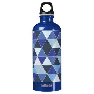 PixDezines幾何学的か青いハイド ウォーターボトル
