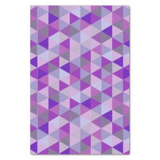 PixDezines幾何学的な紫色のハイド 薄葉紙