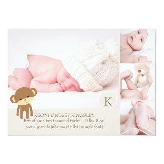 PixDezines猿の写真の誕生の発表 カード