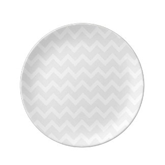 PixDezines白いchevron/DIYの背景 磁器プレート