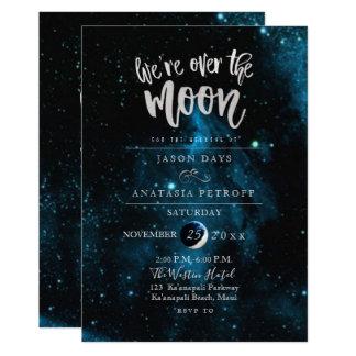 PixDezines私達は月の結婚式にあります カード