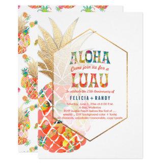 PixDezines Aloha Hawaiian Pineapples/Orange/DIY カード