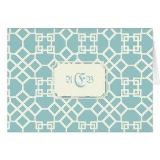 PixDezines ChinoiseTrellis/DIYの青の背景 カード