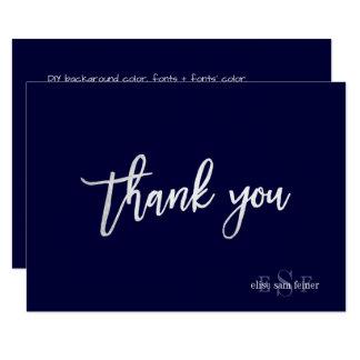 PixDezines DIYの色かモノグラムはあなたか平たい箱を感謝していしています カード