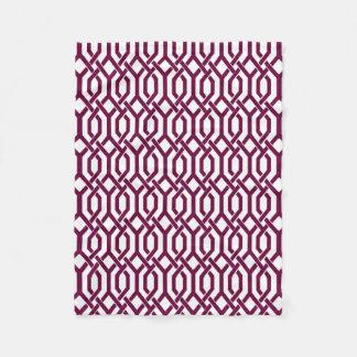 PixDezines DIYの色またはkewの格子垣か調節可能 フリースブランケット