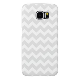 PixDezines DIY色または灰色か白いシェブロン Samsung Galaxy S6 ケース