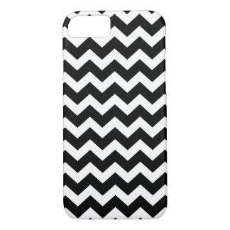 PixDezines DIY色または黒くか白いシェブロン iPhone 8/7ケース