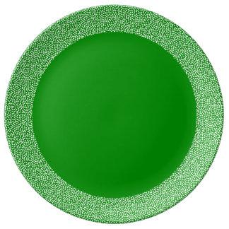 PixDezines frost/DIYのエメラルドグリーン 磁器プレート