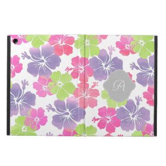 PixDezines hibiscus/DIYの背景かモノグラム iPad Airケース