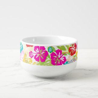 PixDezines hibiscus/DIYの背景 スープマグ