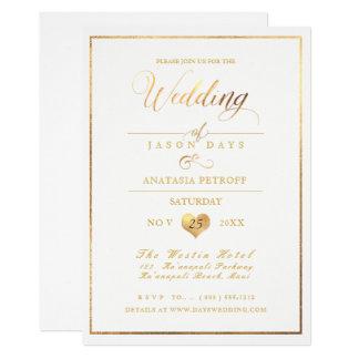 PixDezines Marble/Faux Gold/Wedding Celebration カード