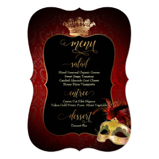 PixDezines Masquerade Menu/DIY background color カード