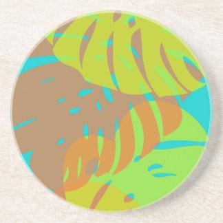 PixDezines Monsteraのキーウィ+オレンジ コースター