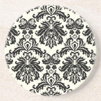 PixDezines Piquéのダマスク織 コースター