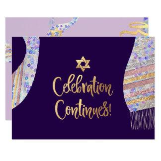 PixDezines Reception Mitzvah/purple watercolor カード
