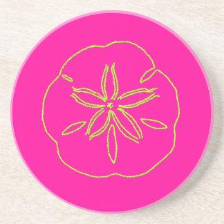 PixDezines Sanddollarのヒトデかライム+ピンク コースター