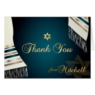PixDezines Tallit (ユダヤ教の)バル・ミツバーはYou/DIY色を感謝していしてい ノートカード