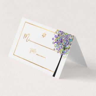 PixDezines Tree of LIfe+Purple+Green プレイスカード