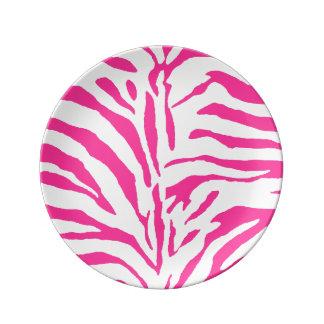PixDezines zebra/DIY色 磁器プレート