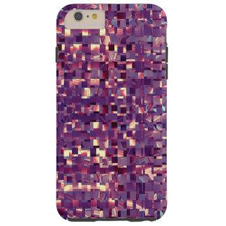 Pixelatedの紫色の携帯電話の箱 Tough iPhone 6 Plus ケース