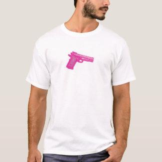 Pixellatedのピンクのピストルティー Tシャツ