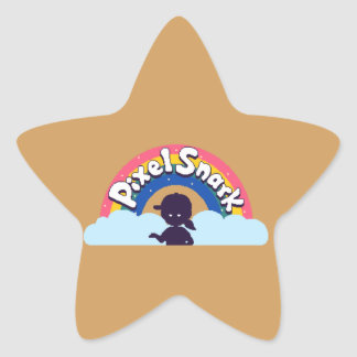 PixelSnarkのロゴ 星シール