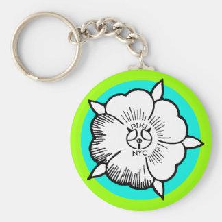 Pixipigの署名の花の緑Keychain キーホルダー