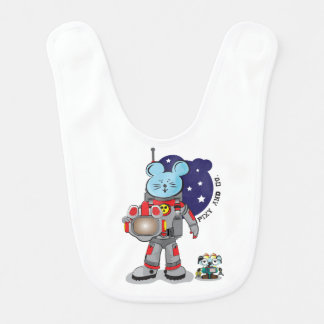 Pixyおよびcoのペットロボットを持つかわいいマウスの宇宙飛行士 ベビービブ