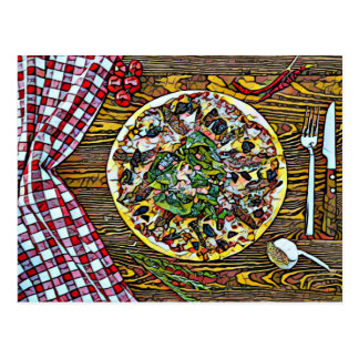 Pizza pie perfection for Postcrossing postcards ポストカード