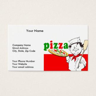 Pizzaioloおよびピザ 名刺