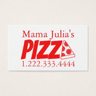 Pizzeria Red Banger 名刺