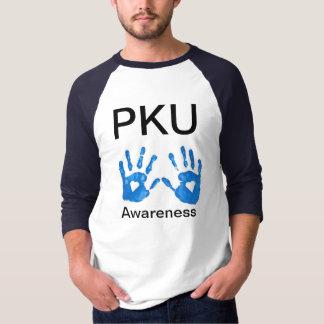 PKUの認識度の人の3/4枚の袖のワイシャツ Tシャツ